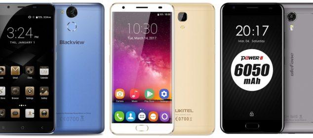 Blackview P2 vs Ulefone Power 2 vs Oukitel K6000 Plus: Adu Smartphone Batere 6000 mAh dengan RAM 4GB 1