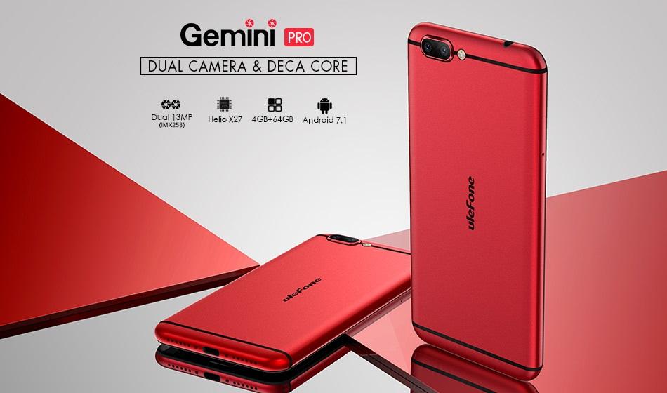 Ulefone Gemini Pro: Phablet Fotografi dengan RAM 4GB dan Helio X27 1