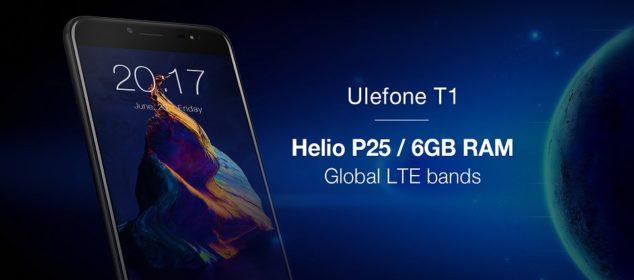 Ulefone T1 disiapkan dengan 4G LTE Global, Helio P25 dan RAM 6GB! d